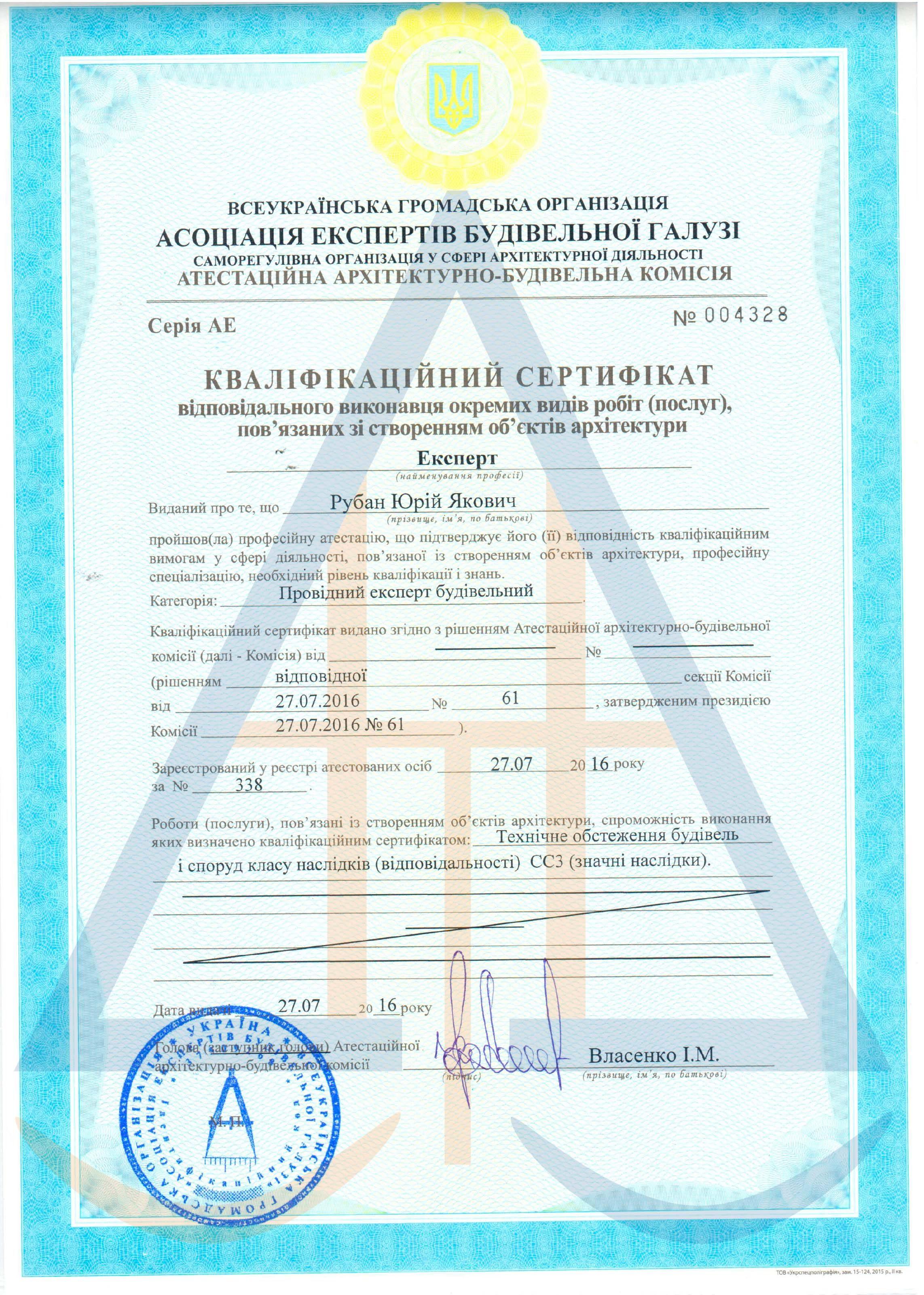Сертифікат 6  Рубан Ю. Я. експерт